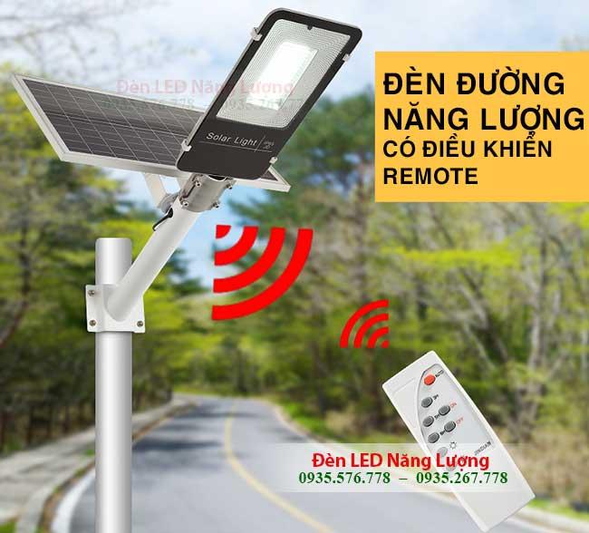 đèn đường năng lượng có điều khiển bằng remote 1