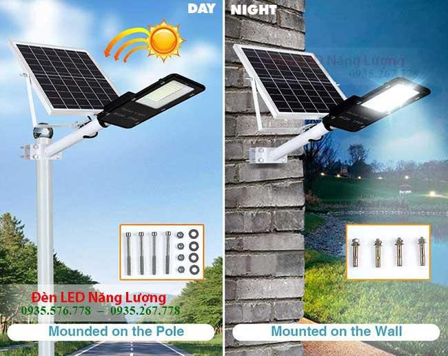 đèn đường năng lượng có điều khiển tự động bật khi tối tắt khi sáng