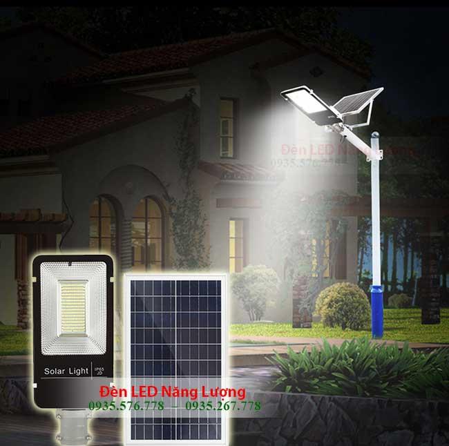 đèn đường năng lượng mặt trời 300w chiếu sáng khi về đêm