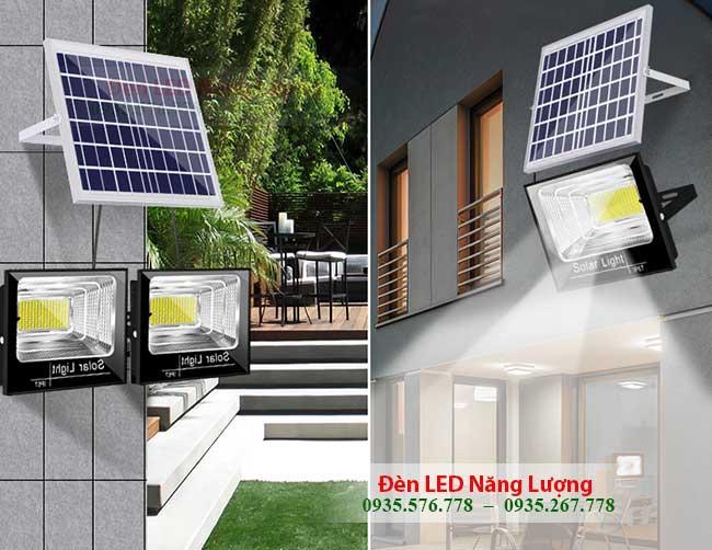 đèn đường năng lượng mặt trời soi sáng gia đình