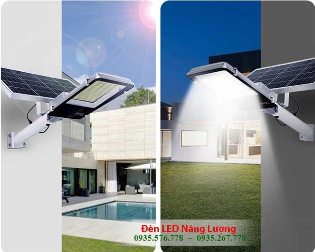 đèn đường năng lượng mặt trời tự động phát sáng ban đêm