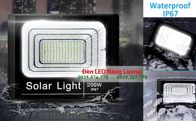 đèn năng lượng mặt trời 200w chống nước cực tốt