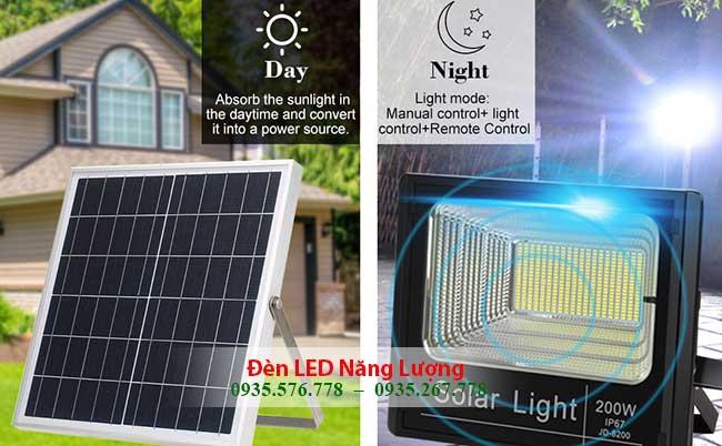 đèn năng lượng mặt trời giá rẻ cảm biến tự động bật tắt ngày đêm 1