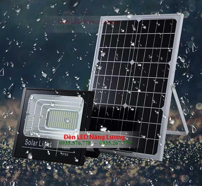 đèn năng lượng mặt trời sân vườn chống nước 100w