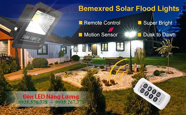 đèn năng lượng mặt trời solar có điều khiển từ