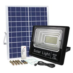Đèn pha năng lượng mặt trời 60W NL60W GIÁ RẺ