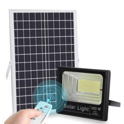 Đèn pha năng lượng mặt trời 100W NL100 GIÁ SIÊU RẺ BÂY GIỜ