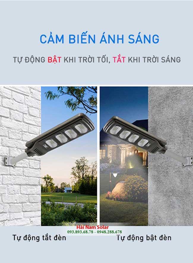 den nang luong mat troi lien the 200W tu dong