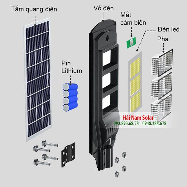 Đèn năng lượng mặt trời liền thể 120W
