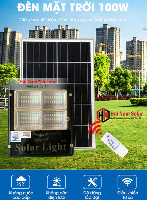 Đèn Năng Lượng Mặt Trời 100W TOPSOLAR Solar Light