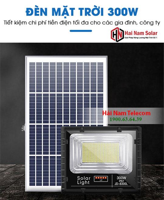 Đèn Pha Năng Lượng Mặt Trời 300W JD-8300L Giá Rẻ