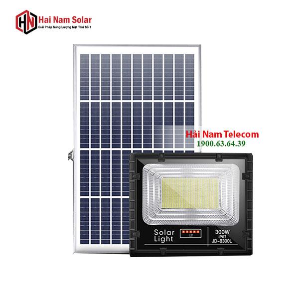 Đèn Pha Năng Lượng Mặt Trời 300W JD-8300L Chính Hãng - Giá Rẻ